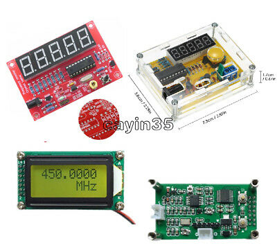 1MHz-1.1GHz 1Hz-50MHz Crystal Oscillator Tester Frequency Counter Meter UK