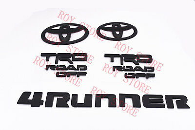 2014-2019 Toyota 4Runner Trd Off Road Matte Black Out Emblem Kit Replacement Sr5
