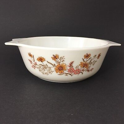 JAJ Pyrex Country Autumn Casserole Dish Made In England Woodland Old Vintage