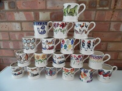 Emma Bridgewater Large Collection of ½ Pint Mugs 19 Different Designs - New