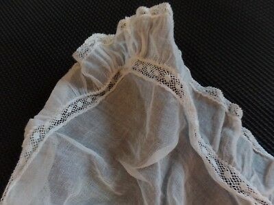 6 Pieces Vintage Baby Doll Clothes Embroidery White Hand Stitches