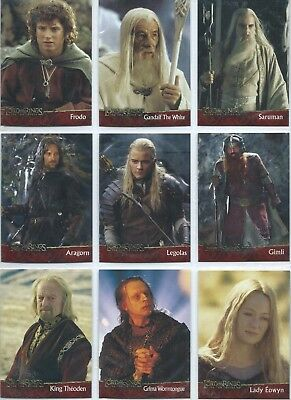 LORD OF THE RINGS(LOTR) THE TWO TOWERS - TOPPS -2002- Complete 90 Card Base Set