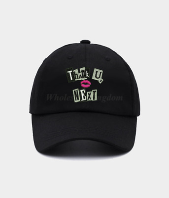 New Thank You Next Hat Ariana Grande Lips Music Hip Hop Rapper Baseball Dad Cap
