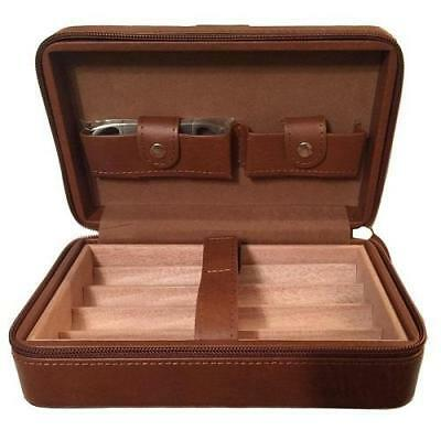 La Palina Leather Travel Humidor With Cutter - SHIPS FREE