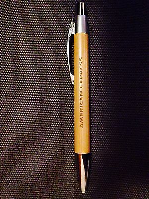 (4) American Express/Amex Engraved Bamboo Pens RARE Centurion Black Gold Card $$