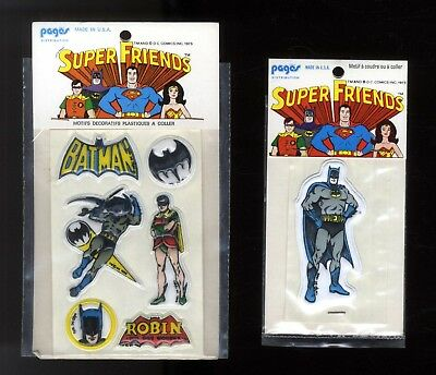 BATMAN & ROBIN    PATCH  ECUSSONS   sous pochette 1973    NEUF