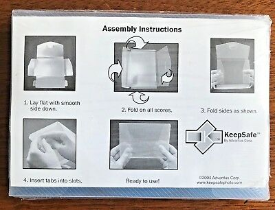 "Advantus CH46-4C-CD Keepsake Photo/Negative Protector 4/Pkg-4""X6"" - NEW"