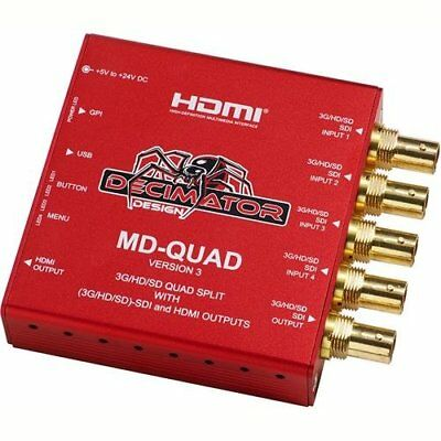 Decimator MD-QUAD (3G/HD/SD)SDI Quad Split with (3G/HD/SD)-SDI and HDMI Outputs