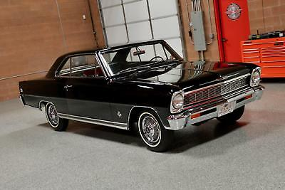 1966 Nova 327/350hp L79 1966 CHEVROLET NOVA SS 327/350hp L79 Tuxedo Black #'s Matching Fully Documented!