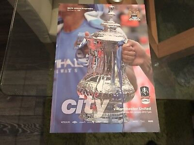 Manchester City V Manchester United. FA Cup January 2012 Match Programme.