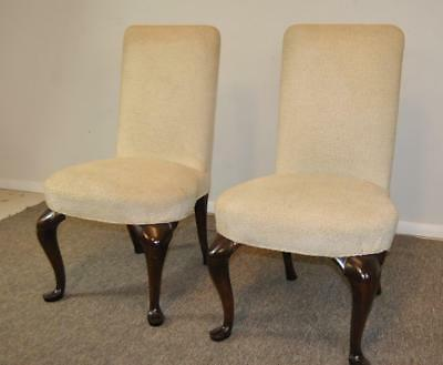 Pair Parsons Arm Chairs Queen Anne Style Legs