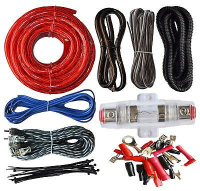 4 Gauge Amp Kit Install Amplifier Speaker Complete Car Wiring Installation Cable