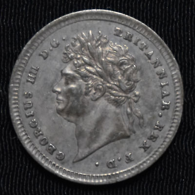 1825 Great Britain, George Iv Maundy 2 Pence, Km 684, Choice About Uncirculated