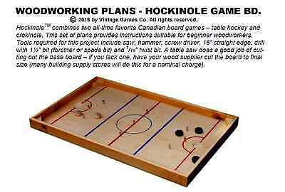 WOODWORKING PLANS - Hockinole board game D-I-Y plans (Eng.)