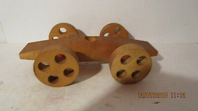 vintage Wooden race car, old school Christmas gift