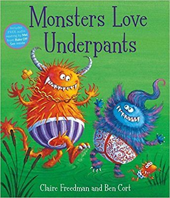 Monsters Love Underpants By Claire Freedman NEW (Paperback) Childrens Book
