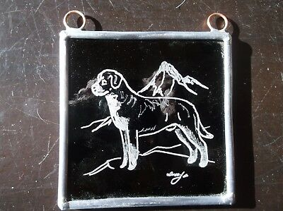 Greater Swiss Mountain Dog- Hand engraved Ornament by Ingrid Jonsson.