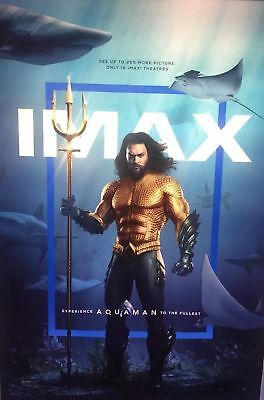 "AQUAMAN (2018) Official Authentic Movie Promo Poster 13"" x 19"" IMAX - Momoa"