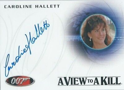 CAROLINE HALLETT - View To A Kill -Autograph Cd#A237 JAMES BOND Artifacts&Relics
