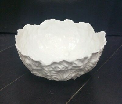Coalport Bone China Countryware England Bowl Porcelain Cabbage Leaf 8''