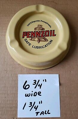 Vintage Pennzoil Porcelain Advertising Ash Tray