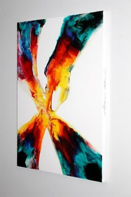 Large Original Colorful Fine Art Abstract Canvas Painting Tara Baden Signed