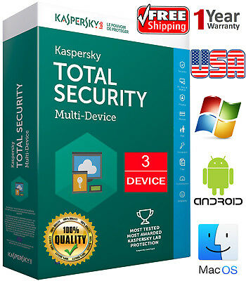 KASPERSKY TOTAL Security 2019 / 3 Device / 1 Year / Regions- US /Download 16.54$