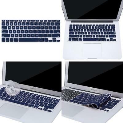 Mosiso Keyboard Cover Silicone Skin Compatible Macbook Pro 13 Inch, 15 Inch (Wit