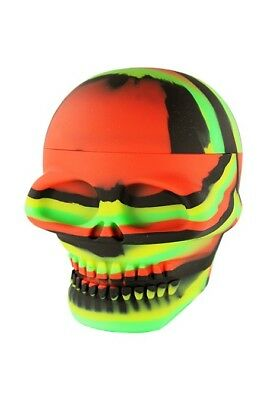 XL Silicone Skull Jar Silicone Wax Jar Containers Nonstick Mixed color