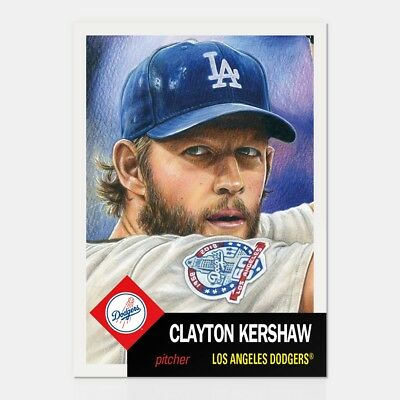 2018 Topps Living Set * CLAYTON KERSHAW * Card #95 * Los Angeles Dodgers