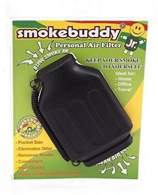 Smoke Buddy Jr - Personal Air Smell Scent Odor Purifier Cleaner Filter BLACK