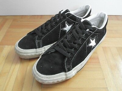 048d834b46aad5 EUC Rare Vintage Converse One Star Suede Leather Shoes Black 8.5 Made in  U.S.A.