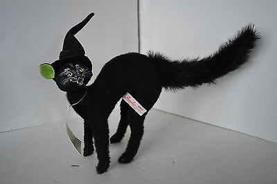 """Halloween SCAREDY CAT 8"""" Witch Hat Bendable Decoration Annalee 2014 Doll"""