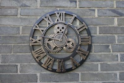 3D Retro Wall Clock Decorative Oversized Rustic Vintage Luxury Antique Watch