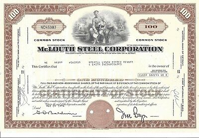 Mclouth Steel Corporation......1977 Common Stock Certificate