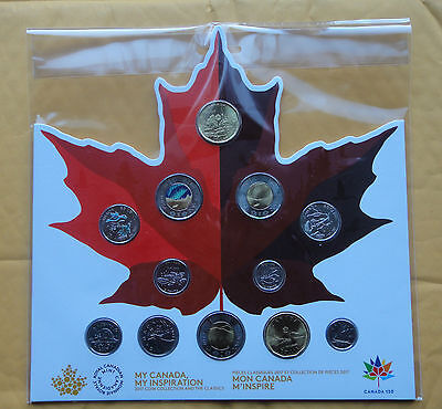 2017 Celebrate Canada's 150th Birthday Circulation 12-coin collection. (No Tax)