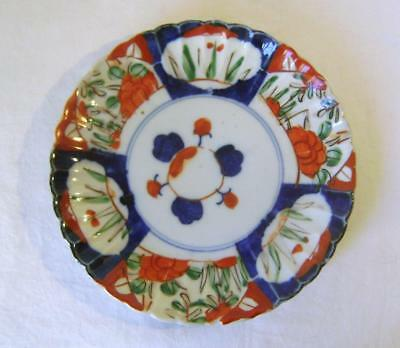 Antique Japanese Imari Porcelain Plate : C.19th/ 20th  18 cm wide