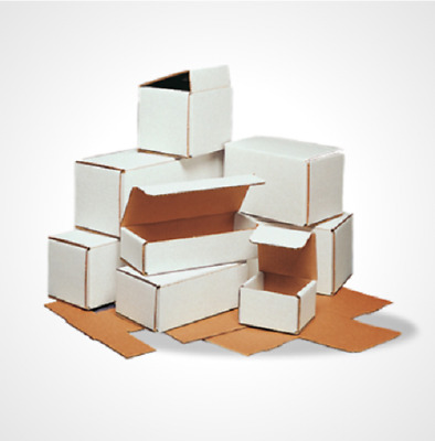 100 8x4x2 White Cardboard Paper Boxes Mailing Packing Shipping Box Carton