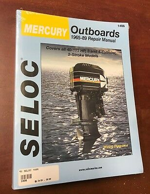MERCURY OUTBOARD REPAIR SERVICE MANUAL 1965-1989 40 to 115 2