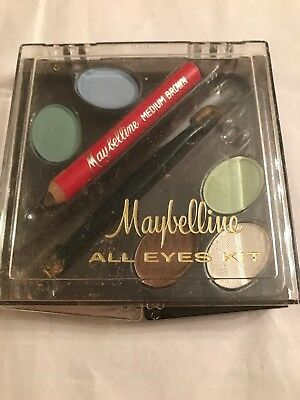 VINTAGE MAYBELLINE All EYES KIT LINER CAKE BLUEBELL DAFFODIL IVY SHADOW New