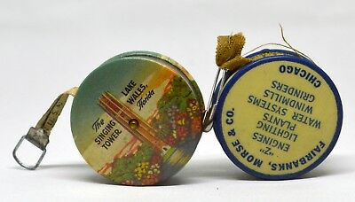 Lot of 2 Vintage Sewing Tape Measures Chicago and Florida Collectible