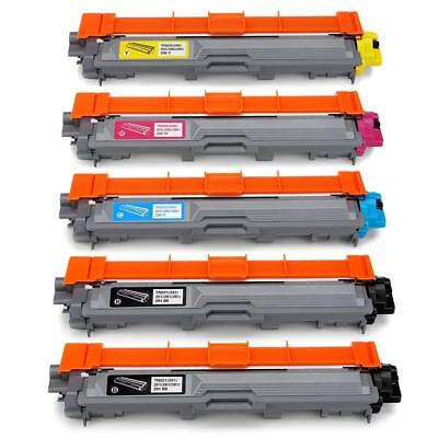 5PK TN221 Toner Cartridge 2 Black Compatible for Brother 3140CW 3170CDW 3180CDW