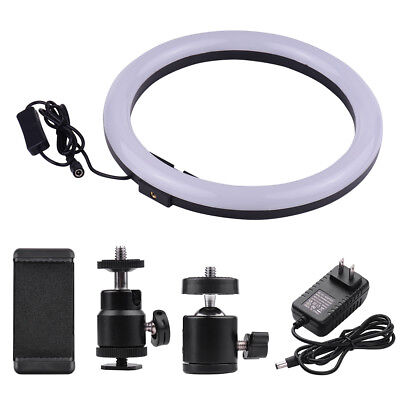 Compact Size LED Video Ring Light Fill-in Lamp 24W Dimmable for iPhone X/8/ K6I8