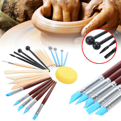 24pcs Ball Stylus Clay Pottery Dotting Carving Modeling Tools Rock Painting Kit
