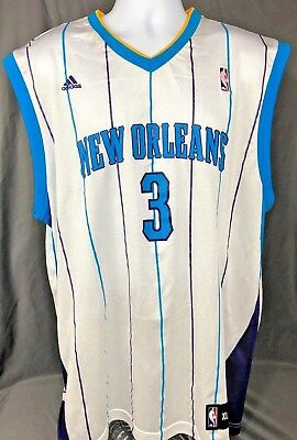 uk availability 3e537 cee51 NEW ORLEANS HORNETS Chris Paul Jersey White XL Adidas NBA #3 CP3