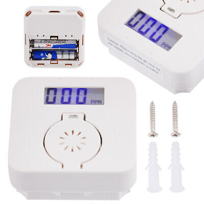 CO Carbon&Monoxide-Smoke Detector Alarm Poisoning Gas Warning Sensor