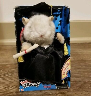 Dancing Singing Hamster Gemmy Graduate High School College Gown Sings CELEBRATE