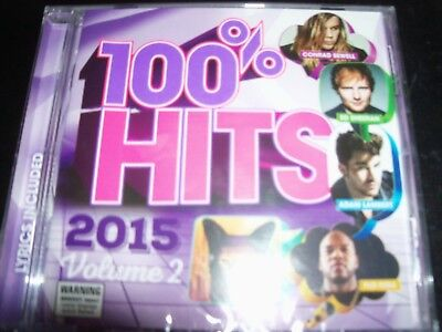 100% Hits 2015 Volume 2 (Ed Sheeran Sia Charli XCX Skrillex Rudimental) CD – New