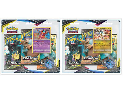 Pokemon TCG Team Up 2 Blister Packs Deoxys + Ultra Necrozma Promos