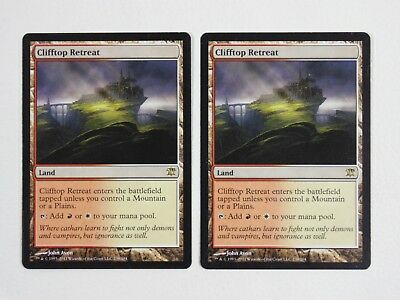 [2x] Clifftop Retreat - Innistrad MTG Two Cards Near Mint Condition NM